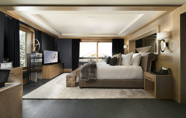 Картинка комната, кровать, подушки, окно, спальня