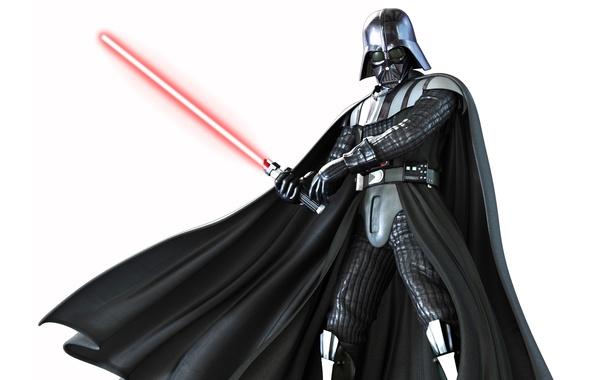 Картинка Star Wars, белый фон, Звездные войны, Darth Vader, Дарт Вейдер, лазерный меч