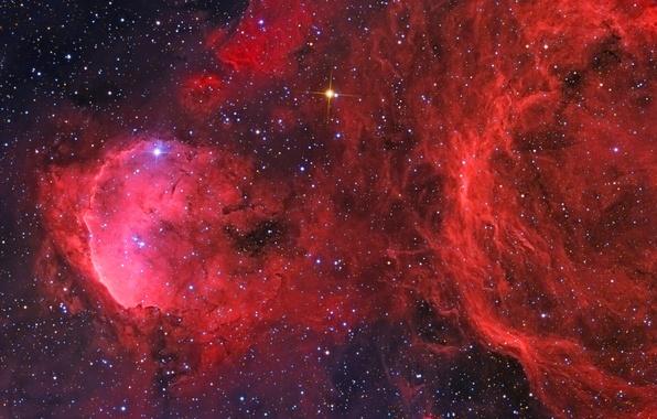 Картинка космос, пространство, звёзды, созвездие, Туманность Киля, мироздание