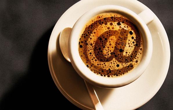 Картинка кофе, собака, чашка, символ