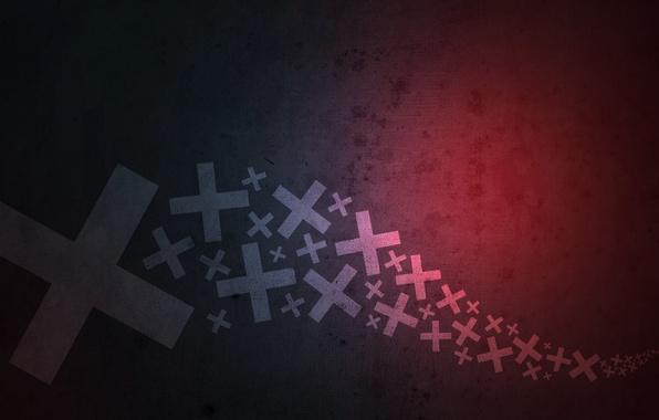 Картинка крест, градиент, текстура
