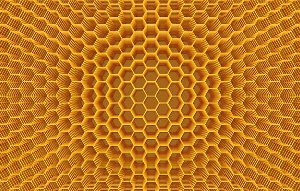 картинка мед соты