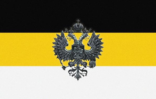 Картинка орел, флаг, Россия, империя, двуглавый