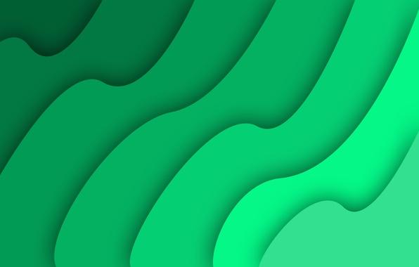 Картинка simple, green, abstract, waves, wave