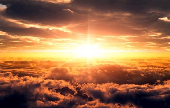 Картинка небо, солнце, восход