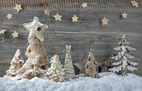 Картинка снег, украшения, елки, Новый Год, Рождество, ткань, Christmas, vintage, New Year, decoration, Happy, Merry