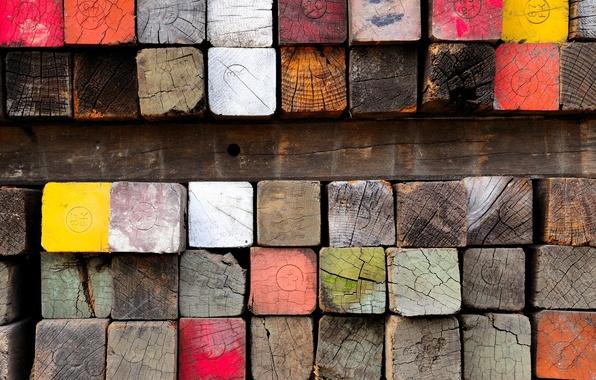 Картинка дерево, краска, брус