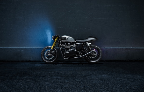 Картинка Side, Bike, Custom, Triumph, Bonneville, Racer, Motorcycle, The Bullitt