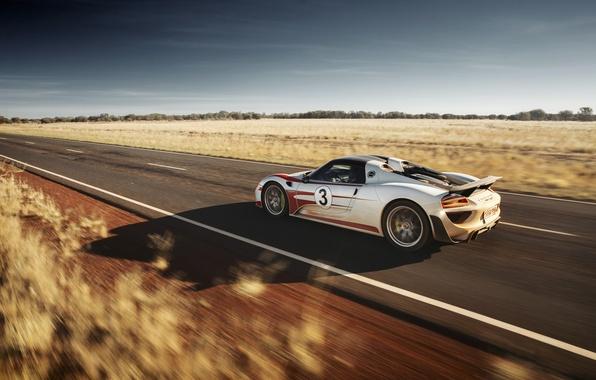 Картинка supercar, в движении, Spyder, Porsche 918