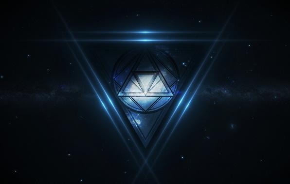 Картинка космос, звёзды, space, треугольник, stars, galaxy, triangle