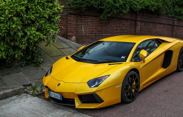 Картинка Lamborghini, V12, Yellow, London, LP700-4, Aventador, Supercars, Exotic