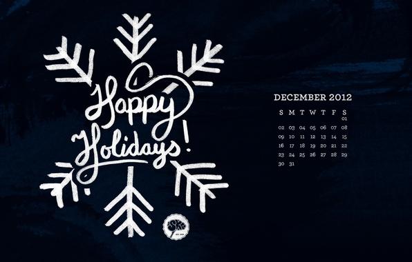 Картинка новый год, рождество, new year, календарь, снежинка, декабрь, merry christmas, december, happy holidays