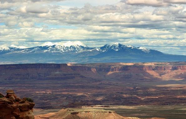 Картинка Горы, Тучи, Каньон