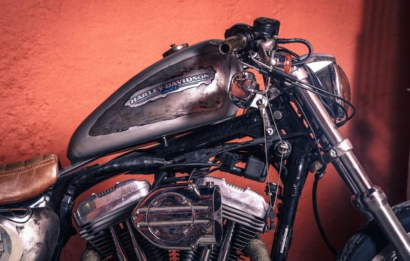Картинка chopper, vintage, motorcycle, harleay-davidson