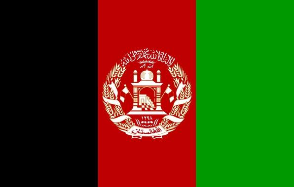 Картинка green, red, black, flag, afganistan