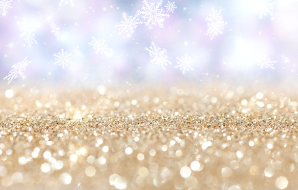 Картинка снежинки, звёздочки, боке
