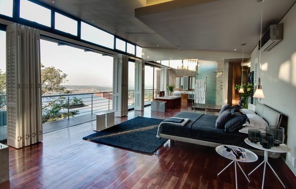 Картинка дизайн, город, дом, стиль, интерьер, жилое пространство