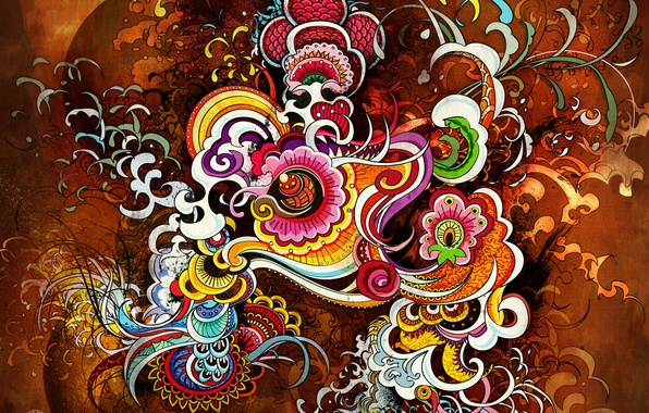 Картинка Дизайн, Яркий, Цвета, Абстракция
