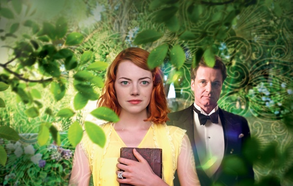 Картинка Girl, Red, Nature, Beautiful, Green, the, Wallpaper, Yellow, Eyes, Magic, Emma Stone, Colin Firth, Moonlight, …