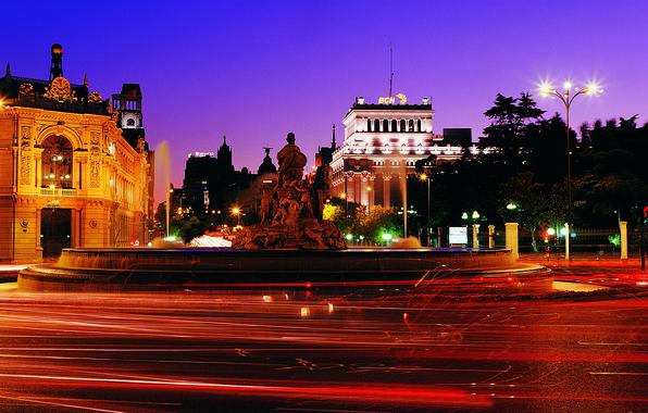 Картинка Вечер, Огни, Площадь