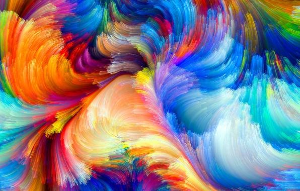 Картинка узор, краски, цвет, радуга, colors, rainbow, объем, pattern, пятно, рельеф, color, size, spot, relief