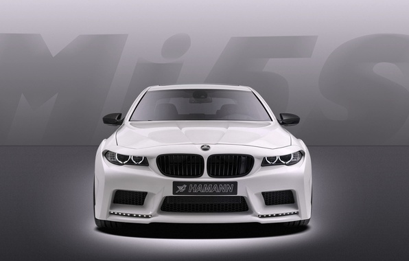 Картинка Авто, Белый, BMW, Машина, Тюнинг, Бумер, Решетка, БМВ, Капот, Корпус, Седан, Фары, Hamann, Передок, Mission