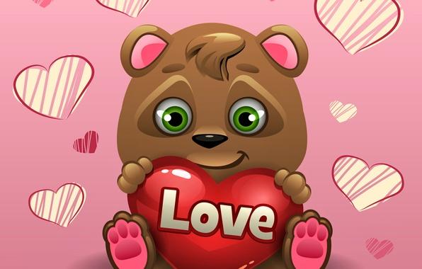 Картинка сердце, мишка, love, bear, heart, romantic, teddy, Valentine's Day