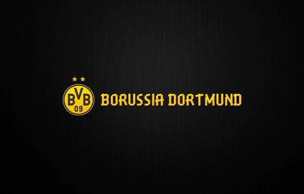 Картинка Желтый, Спорт, Лого, Фон, Дортмунд, Боруссия, Borussia, Dortmund
