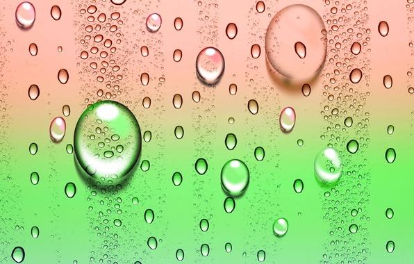 Картинка капли, пузырьки, цвет
