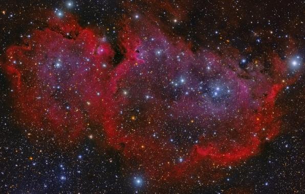Картинка космос, Туманность, Кассиопея, мироздание, «Душа»