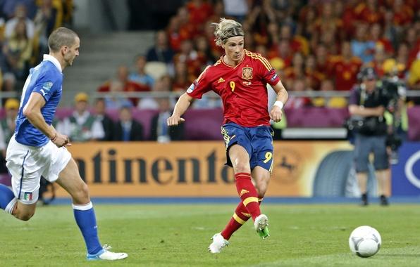 Картинка футбол, победа, спорт, Италия, sport, Испания, финал, гол, чемпионат, football, Фернандо Торрес, Fernando Torres, Spain, …