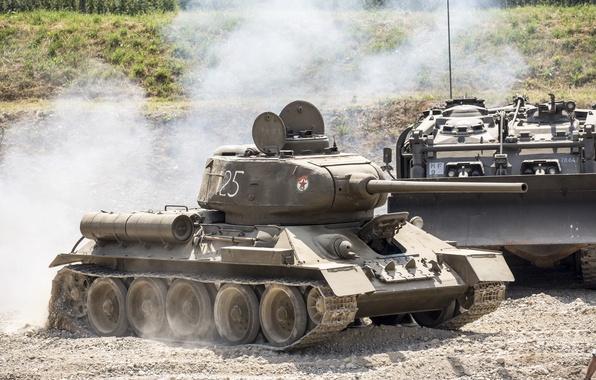 Обои т 34 85 советский средний танк