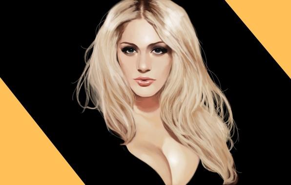 Картинка девушка, блондинка, girl, art, model, Nicole Neal, Николь Нил, speedpaint