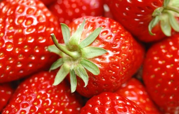 Картинка лето, красный, ягоды, еда, клубника
