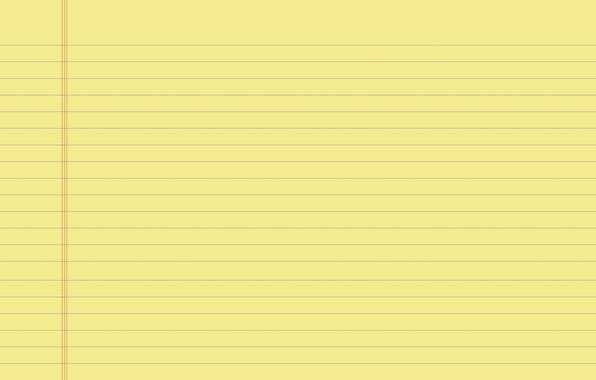 Картинка линии, желтый, лист, полосы, фон, обои, поля, текстура, тетрадь, широкоформатные, wallpapers, страница, тетрадка