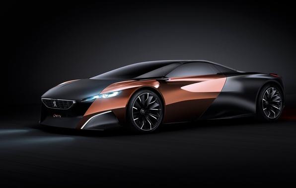 Картинка Concept, Peugeot, black, Onyx
