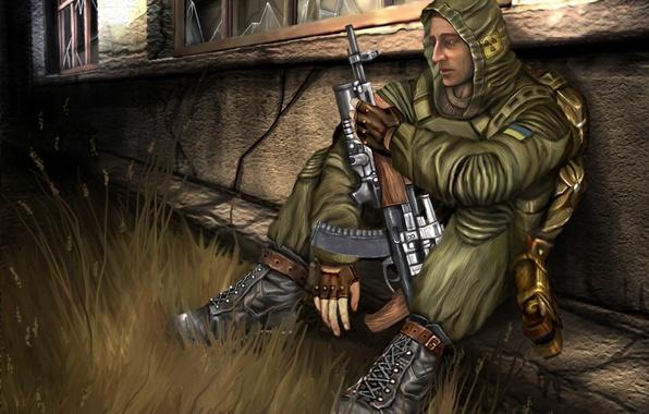 Картинка Stalker, сталкер, припять, зона, стрелок, меченый