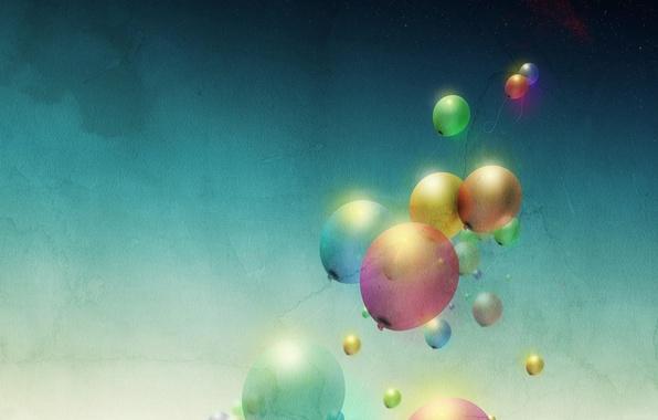 Картинка цвета, шары, минимализм, арт, воздушные