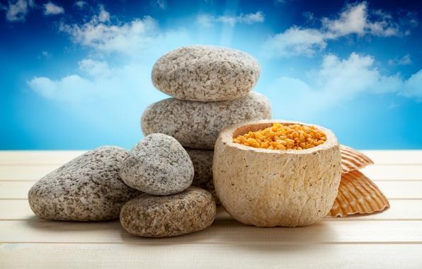 Картинка камни, sky, спа, stones, spa, salt, соль для ванны