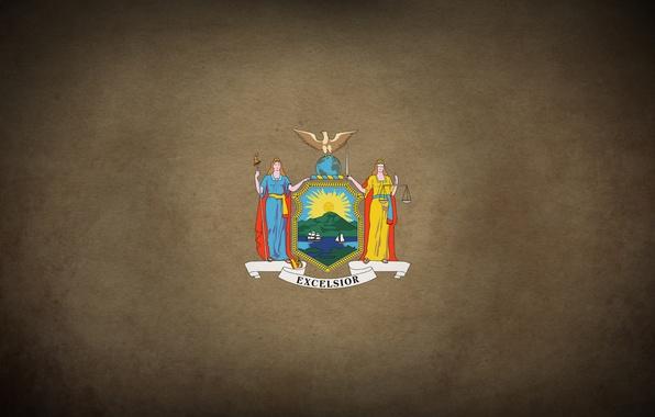 Картинка city, флаг, америка, герб, new york, america, нью йорк, new, nyc, york, штат, excelsior, state, …