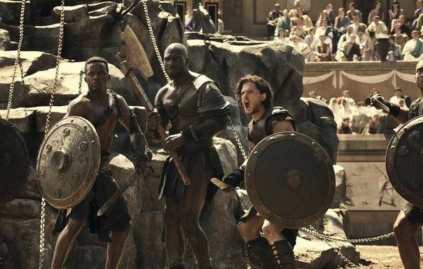 Картинка битва, арена, гладиаторы, Pompeii, Помпеи, напряжение, фильм-катастрофа