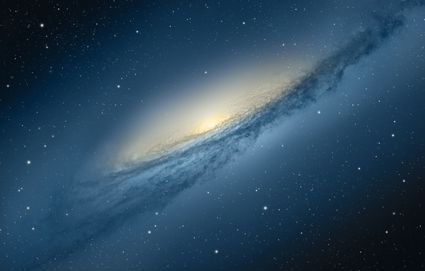 Картинка космос, звезды, apple, галактика, mac os, mountain lion