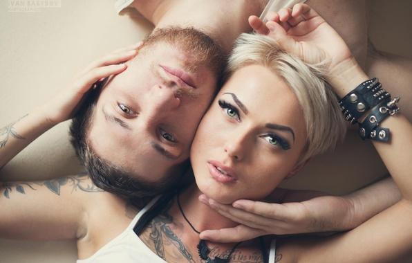 Картинка взгляд, девушка, улыбка, тату, мужчина, щетина, photographer, Babydov Ivan
