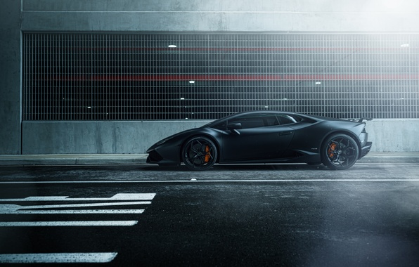 Картинка car, black, street, hq wallpaper, William Stern, Lamborghini Huracan