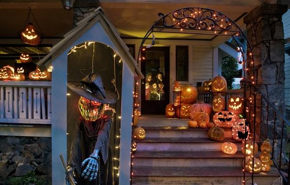 Картинка Город, Halloween, City, USA, Washington, Tacoma