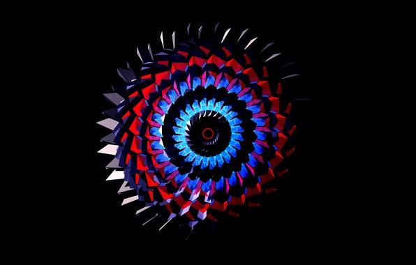Картинка фон, узор, краски, спираль