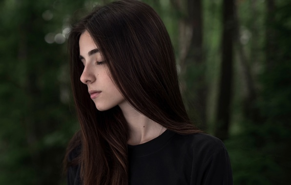 Картинка девушка, портрет, боке, Maxim Guselnikov, Джонни Миллер