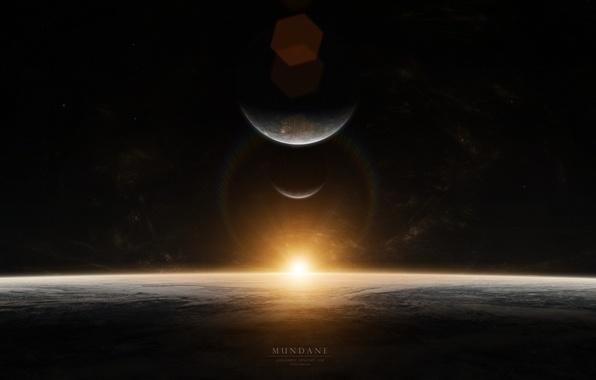 Картинка звезды, восход, планеты, sunrise, mundane