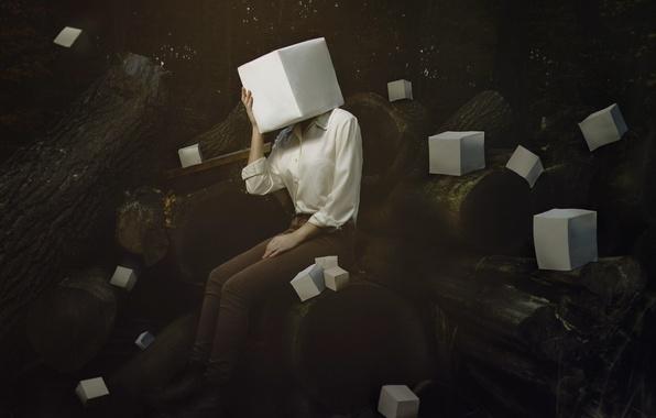 Картинка conceptual, Creative Block, floating, pocket wizards, self portrait