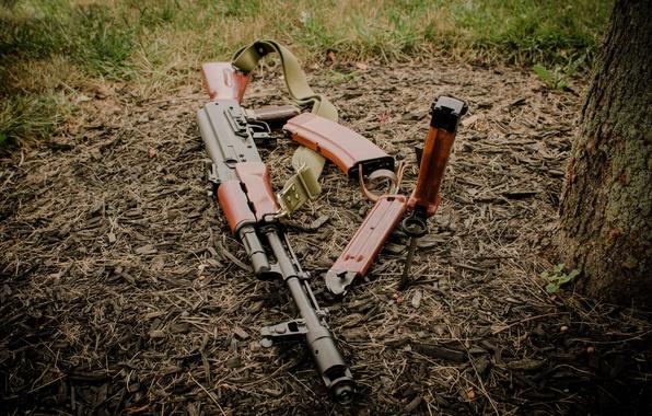 Картинка оружие, нож, автомат, Калашникова, штык, Ак-74